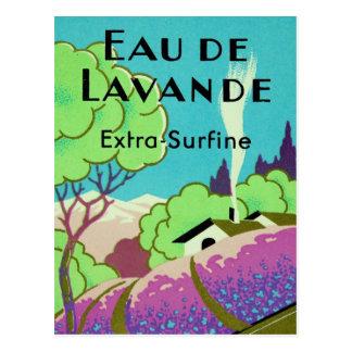 Art Deco French Lavender Farm Postcard