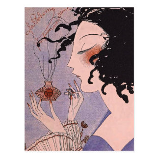 Art Deco French Parfum Ad Postcard