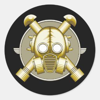 Art Deco Gasmask Round Sticker
