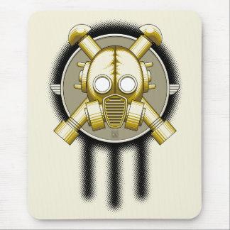 art deco gasmask trinity mouse pad