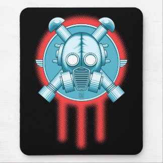 art deco gasmask trinity mouse pads
