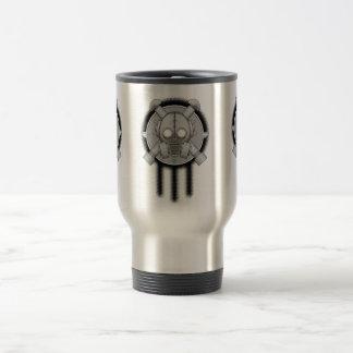 art deco gasmask trinity mugs