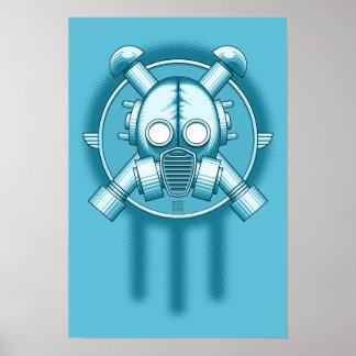 Art Deco Gasmask Trinity Poster