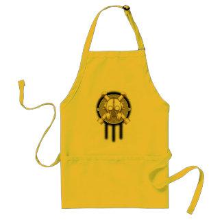 art deco gasmask trinity standard apron