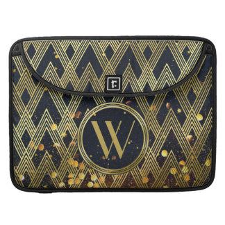 Art Deco Gatsby Glamour Geometric Pattern Monogram Sleeve For MacBooks