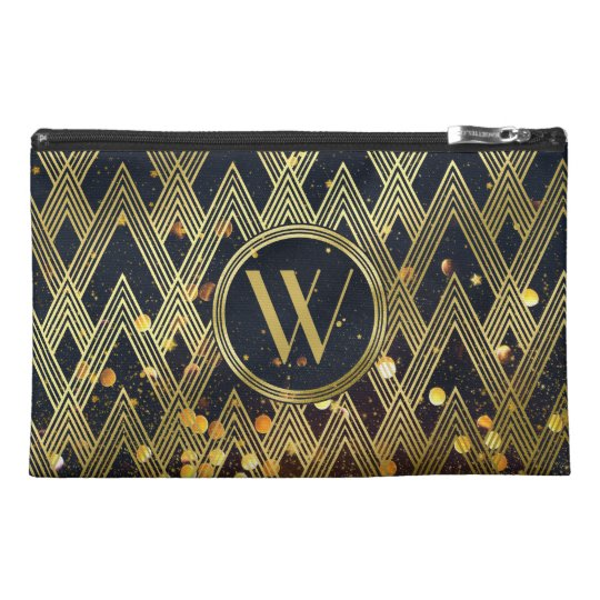 Art Deco Gatsby Glamour Geometric Pattern Monogram Travel