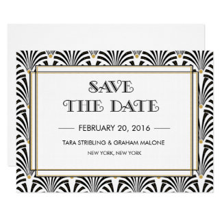 Art Deco Gatsby Save The Date Invitation