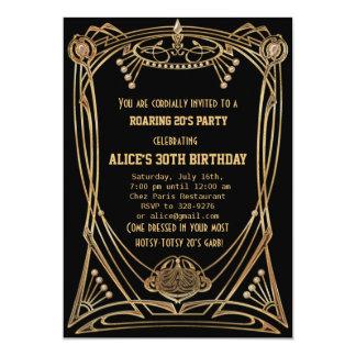Art Deco Gatsby Style Birthday Party Invitation