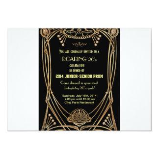 Art Deco Gatsby Style Prom Invitation-Roaring 20's 13 Cm X 18 Cm Invitation Card