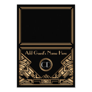 Art Deco Gatsby Style Wedding Escort Place Cards