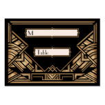 Art Deco Gatsby Style Wedding Escort Place Cards