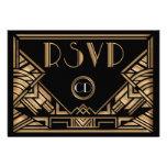 Art Deco Gatsby Style Wedding RSVP Response Cards