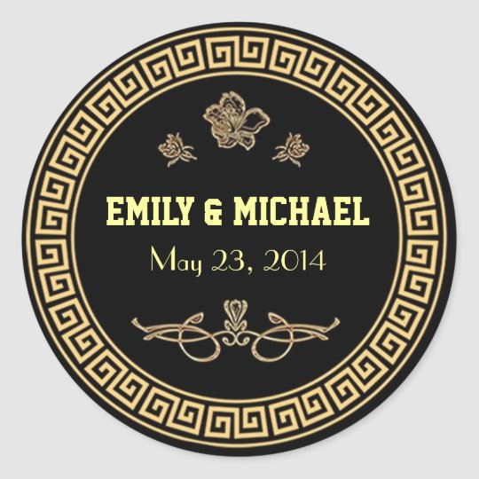 Art Deco Gatsby Style Wedding Stickers - Labels