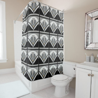 Art Deco Geo Shower Curtain