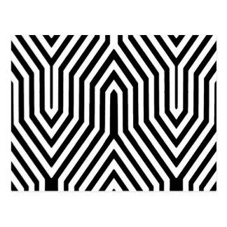 Art Deco Geometric - black and white Postcard