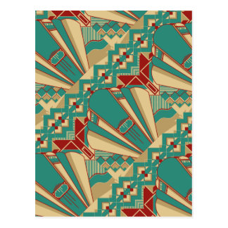 Art Deco Geometric Design Postcard