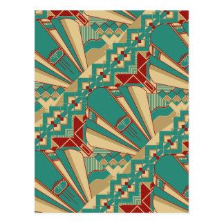 Art Deco Geometric Design Postcard