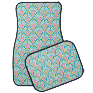 Art Deco Geometric Pastel Fan Design Car Mat