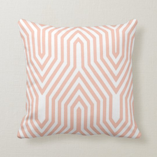 Art Deco Geometric - peach pink and white