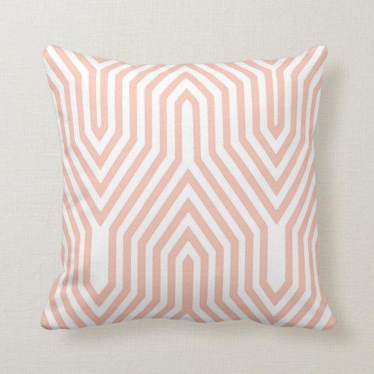 Art Deco Geometric - peach pink and white