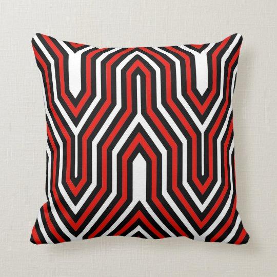 Art Deco Geometric - red, black and white