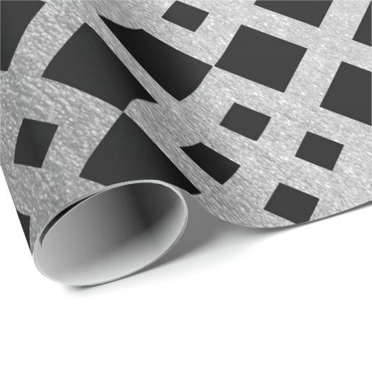 Art Deco Geometric Silver Square Ornament Vip Wrapping