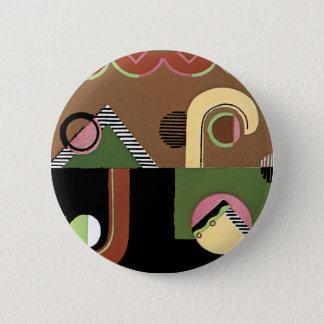 Art Deco Geometrics 6 Cm Round Badge