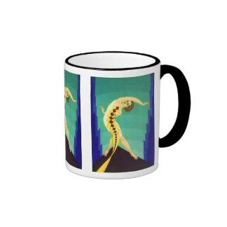 Art Deco Girl Coffee Mugs