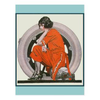 Art Deco Girl Postcard