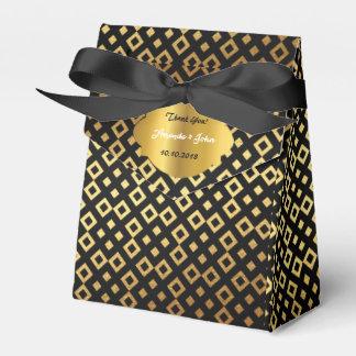 Art Deco Glam Golden Wedding  Favor Thank You Favour Box