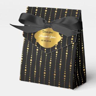 Art Deco Glam Golden Wedding  Favor Thank You Party Favour Boxes