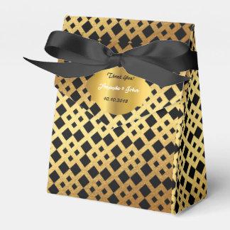 Art Deco Glam Golden Wedding  Favor Thank You Wedding Favour Box