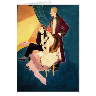 Art Deco Glamor ~ At the Theater Greeting Card