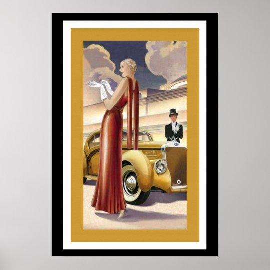 Art Deco Glamour Girl Poster