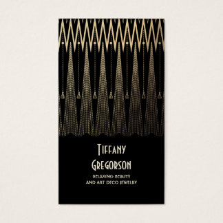Art Deco Gold and Black Gatsby Vintage Chic Business Card