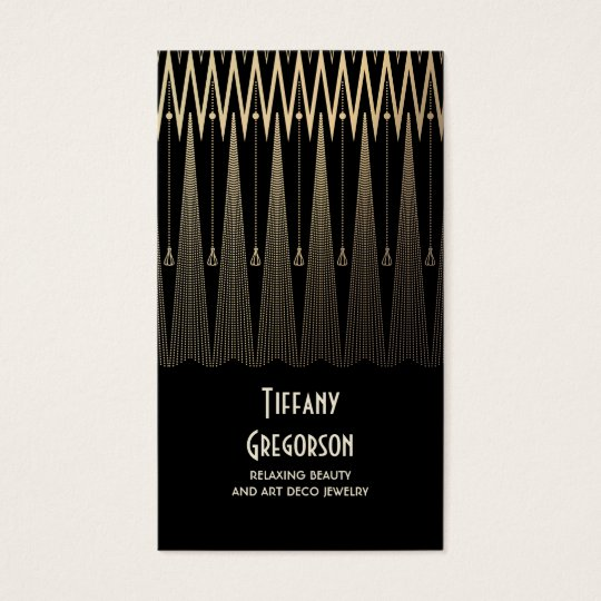 Art Deco Gold and Black Gatsby Vintage Chic