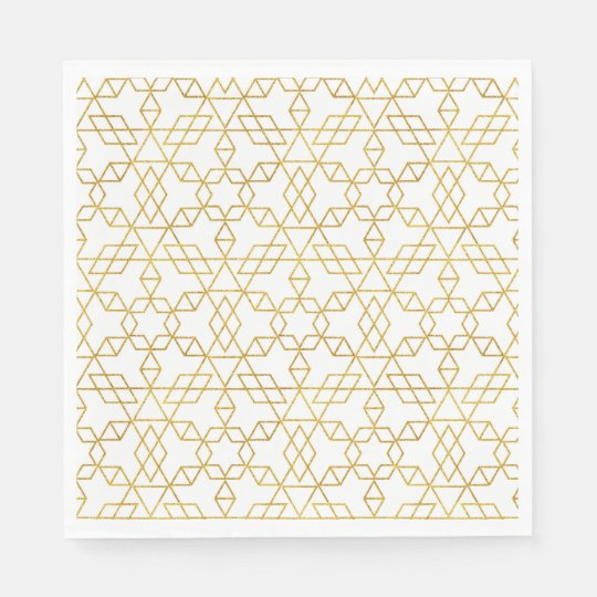Art Deco Gold Disposable Napkins