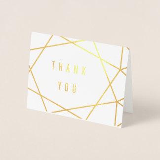 Art Deco Gold Foil Thank You Card