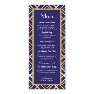 Art Deco Gold Navy Menu Wedding 1920's Reception Card