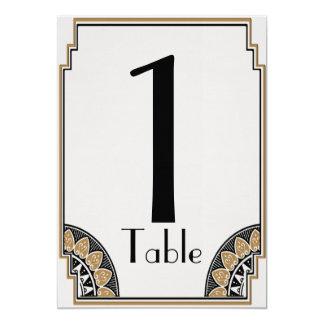 Art Deco Gold Posh Table Number 13 Cm X 18 Cm Invitation Card