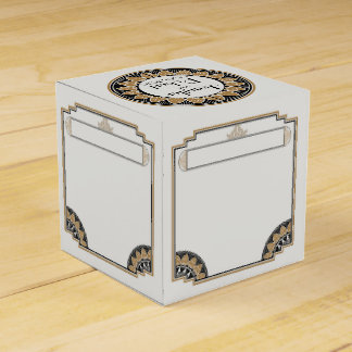Art Deco Gold Posh Wedding Favor Box