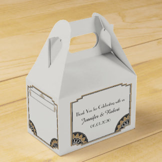Art Deco Gold Posh Wedding Favor Box Party Favour Box