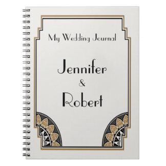 Art Deco Gold Posh Wedding Journal