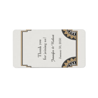 Art Deco Gold Posh Wedding Lip Balm Label Address Label