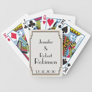 Art Deco Gold Posh Wedding Playing Cards