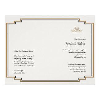 Art Deco Gold Posh Wedding Program 21.5 Cm X 28 Cm Flyer