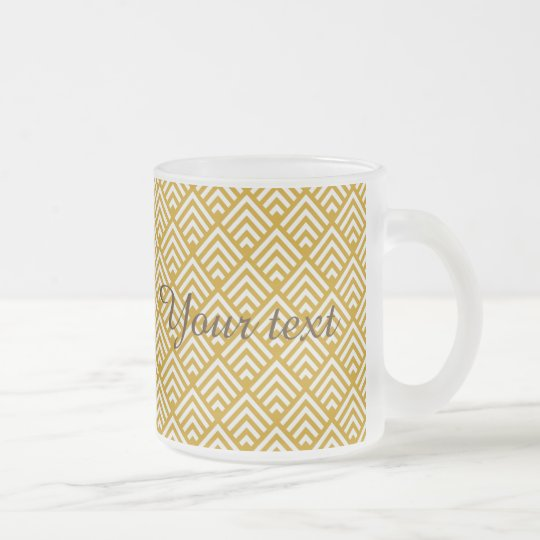 Art deco,gold,vintage,chic,pattern,elegant,trendy, frosted glass coffee mug