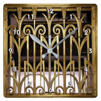 Art Deco Gold Wall Clocks