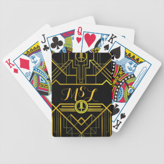 Art Deco Great Gatsby Monogram Playing Cards