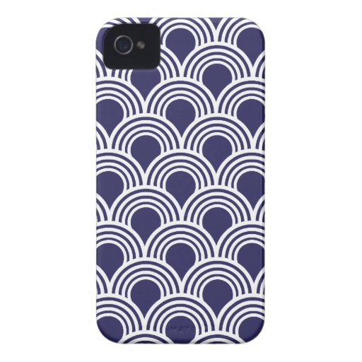Art Deco Great Gatsby Style Mod Shell Pattern iPhone 4 Case